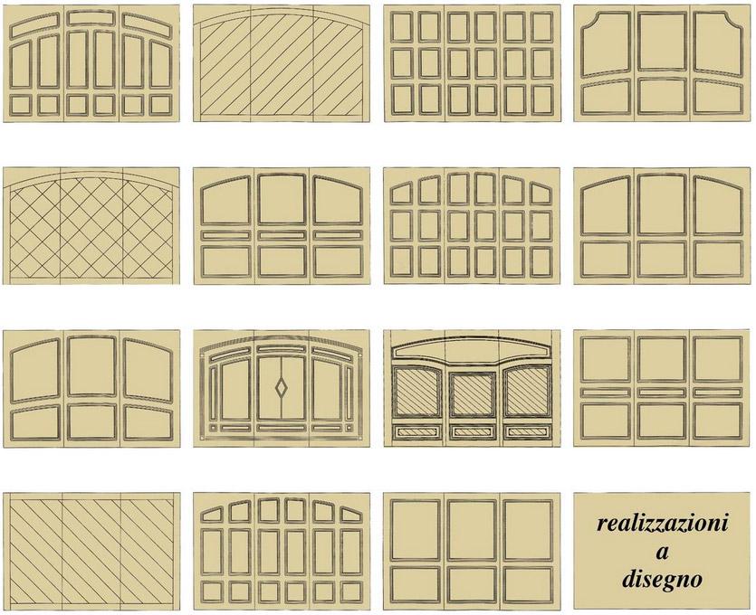 basculanti in legno: pantografature porte d'autore