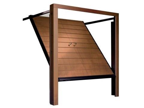 porta basculante in legno linea STYLEGNO modello non-debordante