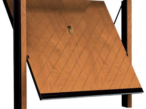 porta basculante in legno linea STYLEGNO modello obliqua