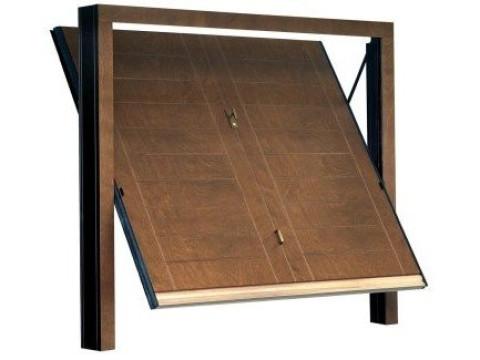 porta basculante in legno linea STYLEGNO modello orizzont-tecno