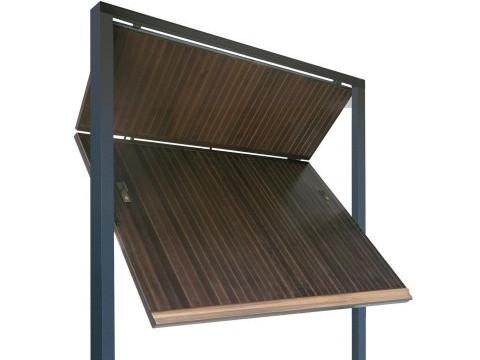 porta basculante in legno linea STYLEGNO modello snodato