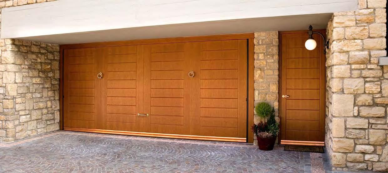 porte basculanti in legno Sandrini